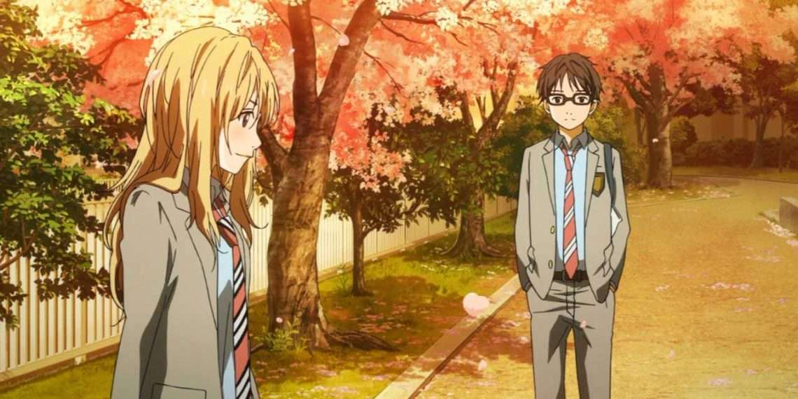 your lie in april- best romance anime
