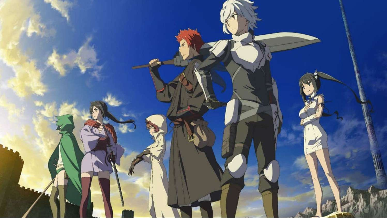 Is It Wrong to Try to Pick Up Girls in a Dungeon?- anime like overlord