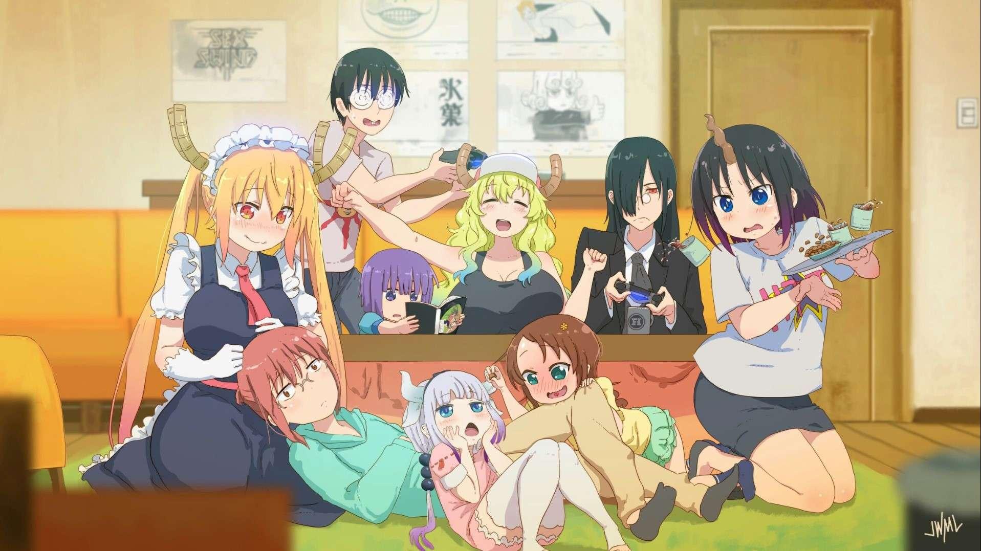 Miss Kobayashi's Dragon Maid- best dubbed anime