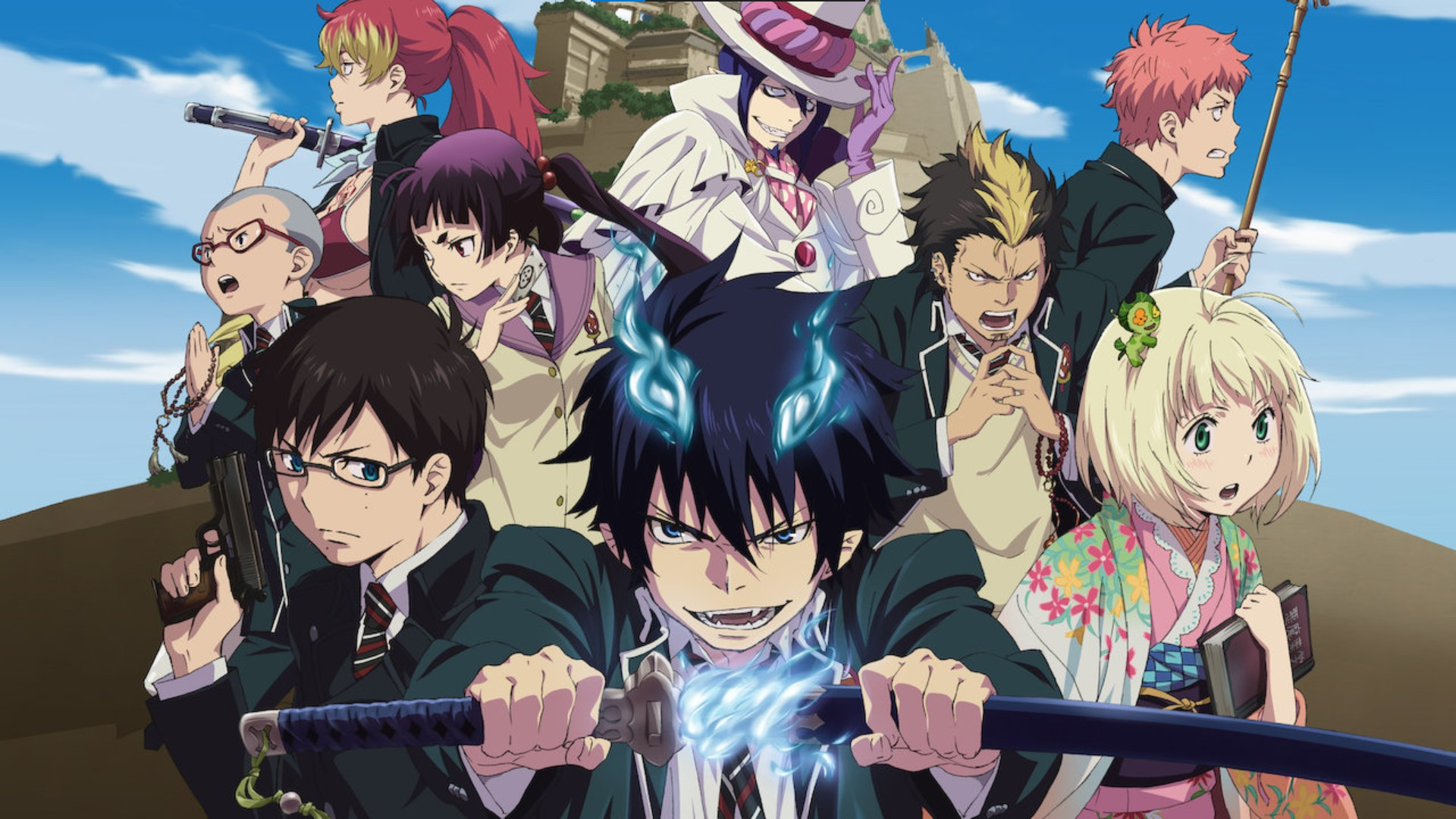 Blue Exorcist- anime like Jujutsu Kaisen