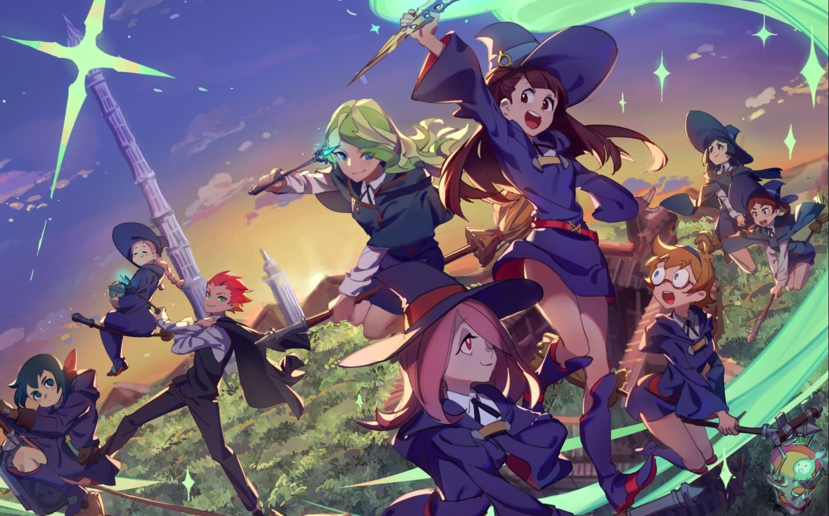 Little Witch Academia- anime like black clover/anime similar to black clover