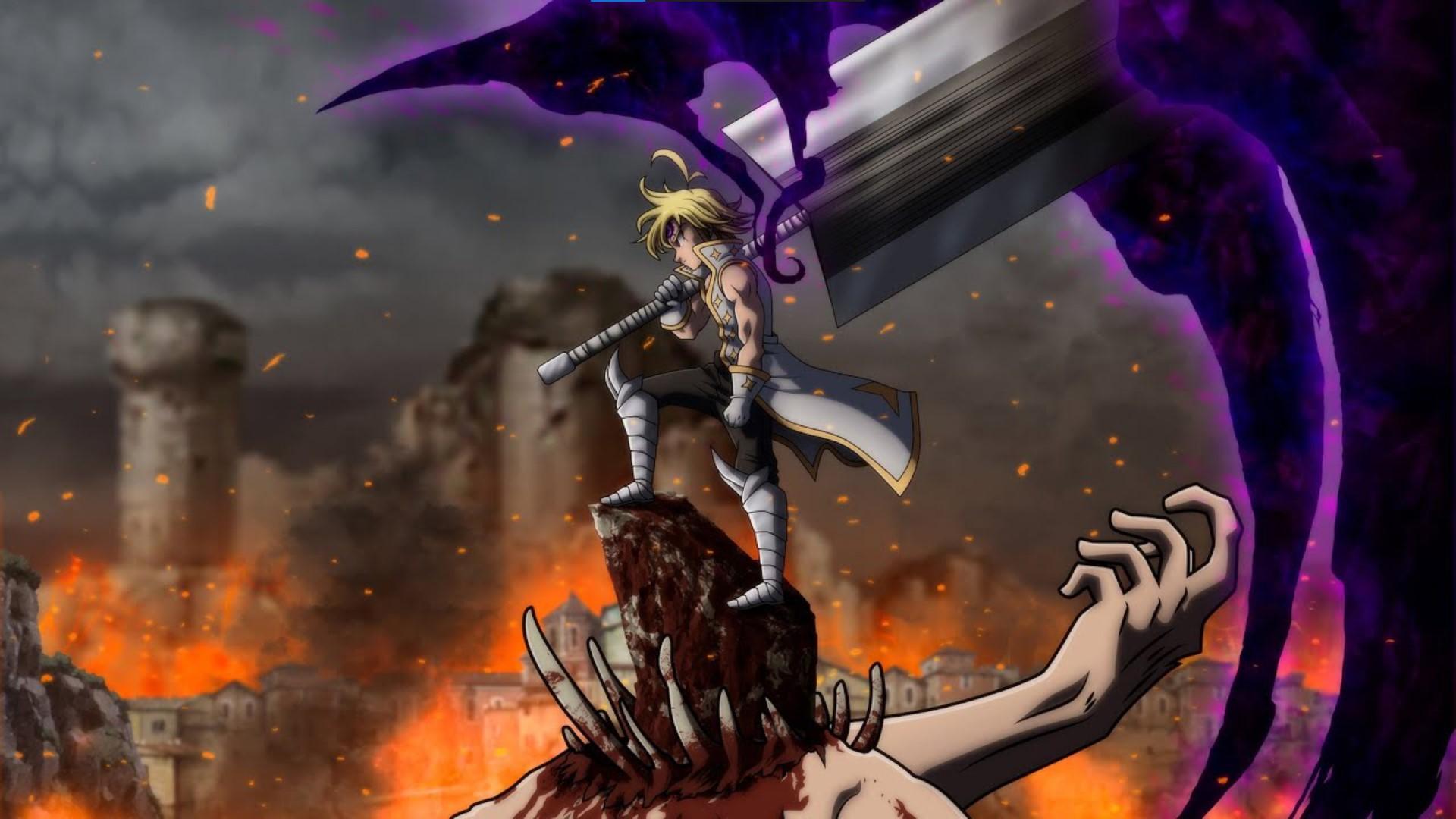 Seven Deadly Sins- anime like black clover/anime similar to black clover